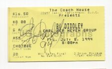 Bo Diddley - Blues, Rock and Roll Icon - Signed Concert Ticket