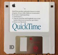 Vintage 1992 Macintosh Mac OS 7 QuickTime Video Multimedia Software Floppy Disk