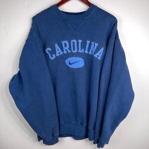 VINTAGE 90's Nike North Carolina UNC Tar Heels Sweater XL