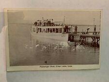Vintage Passenger Boat Clear Lake Iowa Postcard