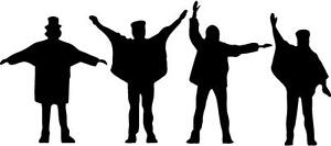 Beatles silhouette Decal Sticker Free Shipping