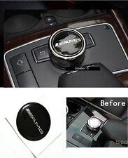 Black AMG Emblem Multiplayer Control Button Cap Sticker Conver Decal Size 3cm