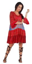 @W943 MINI SHORT DRESS BATIK COM BOHO MTO S M L 1X 2X 3X 4X 5X 6X LOTUSTRADERS