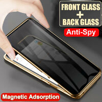 360° Privacy Tempered Glass Magnetic Case for Samsung Galaxy S9 S8 S10Plus Cover