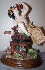 Capodimonte DEAR Boy Eating Grapes Sculpture Artistiche Figurine w/COA Italy