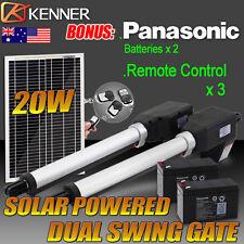 Dual Solar Power Automatic Remote Control Swing Gate Opener - Heavy Duty 1000KG