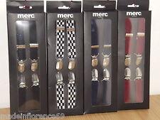 Discount 20% Straps Draces MERC LONDON Black Blue Red Braces Skin Mods Casual