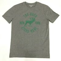 J Crew Mercantile Mens L Heather Pewter Gray Buck Stops Here Graphic Tee Deer