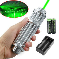 1mW 532nm Green Laser Pointer Pen 18650 Zoom Visible Beam Light+Charger