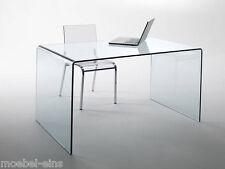 CHANDRA Glas Schreibtisch Brotisch Brombel Tisch Echtglas PC 120 Cm