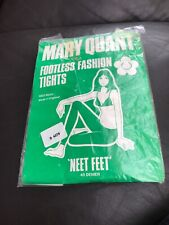 Vintage Mary Quant Footless Tights 'Neet Feet' 40 Denier 1960's