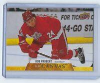 Bob Probert 2020-21 Upper Deck Series 2 UD Canvas #C253 Detroit Red Wings