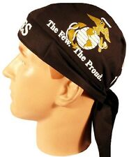 USMC Marines Globe Logo Gold US Military Premium Headwrap Sweatband Made In USA