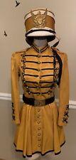 Vintage 1950's C.E Ward Marching Band Majorette Uniform Dress & Hat Yellow Black