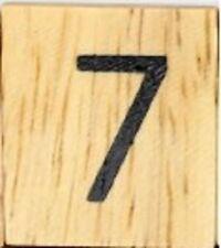 INDIVIDUAL WOOD SCRABBLE TILES! 0.25 CENTS PER TILE. NUMBER 7 seven