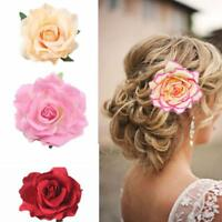 Bridal Rose Flower Hairpin Floral Pretty Hair Clip For Wedding Party Hot