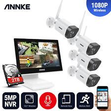 ANNKE 1080P WLAN ÜberwachungsKamera Audioüberwachung 5MP NVR Monitor IP Kameras