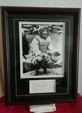 """RAY SCHALK SIGNED INDEX CARD DISPLAY Photo and Double Matter """"CERTIFIED"""""""