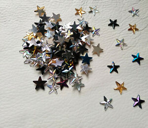 200 x 12mm Flat back Stars in 3 Mixed Colours