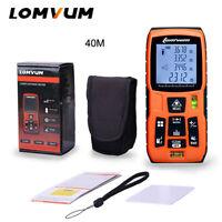 LOMVUM Digital 40M Laser Distance Meter Rangefinder Measure Diastimeter Handheld