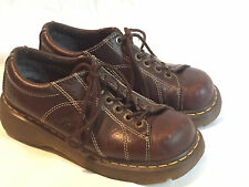 Doc Martens Womens Shoes Sz 8 Dark Brown Vintage Metal Eyelets GUC