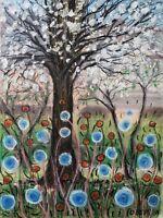Original oil pastels painting 16x12 - Magical Gaia