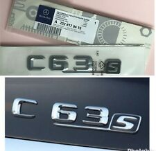 MERCEDES AMG C63S CROMO REAR BADGE EMBLEMA BENZ C-Class C63 C250 C220 C250 C350
