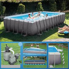 Intex 732 x 366 x 132  Swimming Pool Rechteck Stahlbecken Frame Schwimmbad 28362