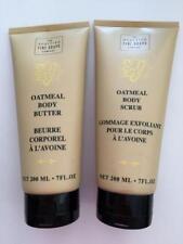 Scottish Fine Soaps Oatmeal Body Butter & Body Scrub Wash 2 pc Set 7 oz each