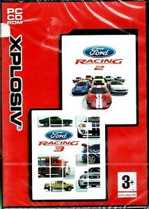 Ford Racing 2 & Ford Racing 3 Pc New XP 2 Games Decades Of Ford Classic Cars