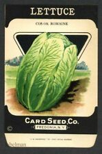 LETTUCE, Cos or Romaine, Antique Seed Packet, Card Seed, Country Store, 087