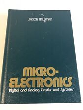 MicroElectronics Digital and Analog Circuits And Systems Signed By Jacob Millman