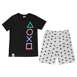 Kids Boys Play Station Pjs Playstation Pyjamas PS Age 4-14 Years Sony Shortie