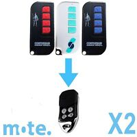 2 x Avanti/Centurion Garage Door Compatible TX4/MPS/DPS/SDO21 Remote T Series