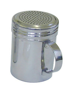 Stainless Steel Chocolate Dredger Shaker with Handle 10oz Sifter Sprinkler