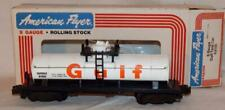 American Flyer 4-9100 GULF Oil Single Dome Tank Car Gas S gauge 1979 WRNX9100