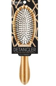 Annie 100% Hand Crafted Bamboo DETANGLING Paddle Cushion Hair Brush ECO FRIENDLY