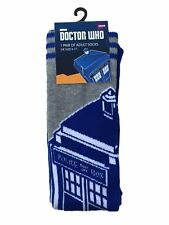 Doctor Who Tardis Adult Socks - UK Size 6-11 - Official licensed product - NEW