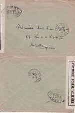 Frankreich 1939 Militärpostamt – Postes  aux Armees Zensurstempel XE 523 selten