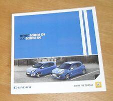Renault Twingo Gordini 133 & Clio Gordini 200 Brochure 2010