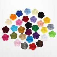 15-100Pcs Cute Flower Embroidered Patch Cloth Iron On Applique craft DIY sewing
