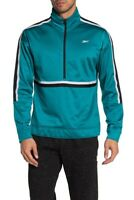 Reebok Men's Seaport Teal Workout Ready Half Zip Jacket (2xL) San Jose sharks
