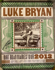 LUKE BRYAN DIRT ROAD DIARIES TOUR 2013 POSTER AUTOGRAPHED SIGNED