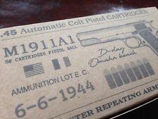 AMMO BOX WW2 replica 45 ACP 1911 M1911A1 D-DAY limited edition June 6 1944 39 45