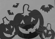 Halloween Window Wall Decals Clings Jumbo Black Pumpkins