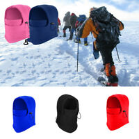 1x Unisex Winter Windproof Face Mask Hat Thermal Fleece Outdoor Cycling Ski Warm