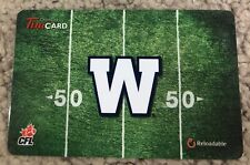 Winnipeg Blue Bombers 50 yd Tim Horton's CANADA Gift Card *No Value Reloadable