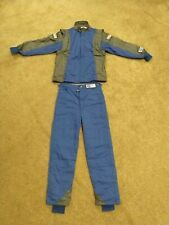 NEW G-Force GF745 Racing Suit BLUE SMALL TWO PIECE SFI 3.2A/5 Fire Rated Nomex