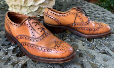 Barker Men's Brogues Dress Shoe, Size 8.5 All Leather Made In England,