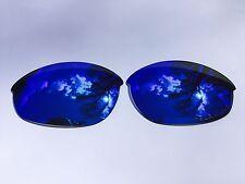 Grabado Polarizadas Azul Hielo Lentes de reemplazo Oakley Media Chaqueta Espejada